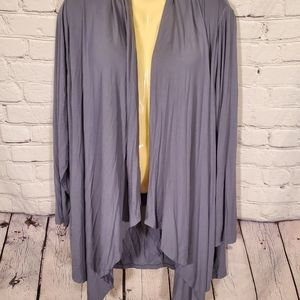 NWT Lane Bryant Gray Open Front Cardigan